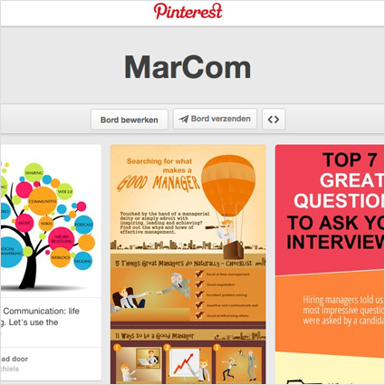 MarCom inspiration Pinterest board