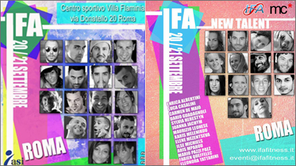 IFA 20/21 September, Rome: TOP convention + New Talent Competition